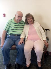 Eleanor and Carl Shiner, currently living at Linden Villiage in North Cornwall Township, have been married for 59 years.