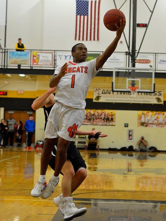 Northeastern vs Kennard-Dale in YAIAA boy's semi-final basketball