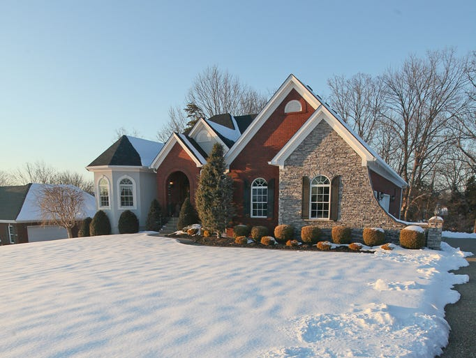 The exterior of the home of Brian and Noelle Glassner in Mt Washington, KY. Feb. 11, 2014
