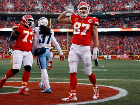 Image result for Travis Kelce touchdown titans