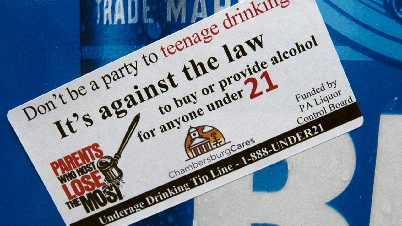 CASHS students are raising awareness of underage drinking and laws to discourage adults from buying alcohol for minors.