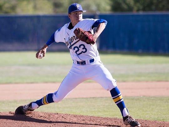 Prescott High School pitcher Jake Schulz.