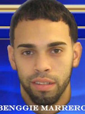 Benggie Marrero is wanted in connection with the brazen theft of $35,000 worth of tires from a Marlton dealership.