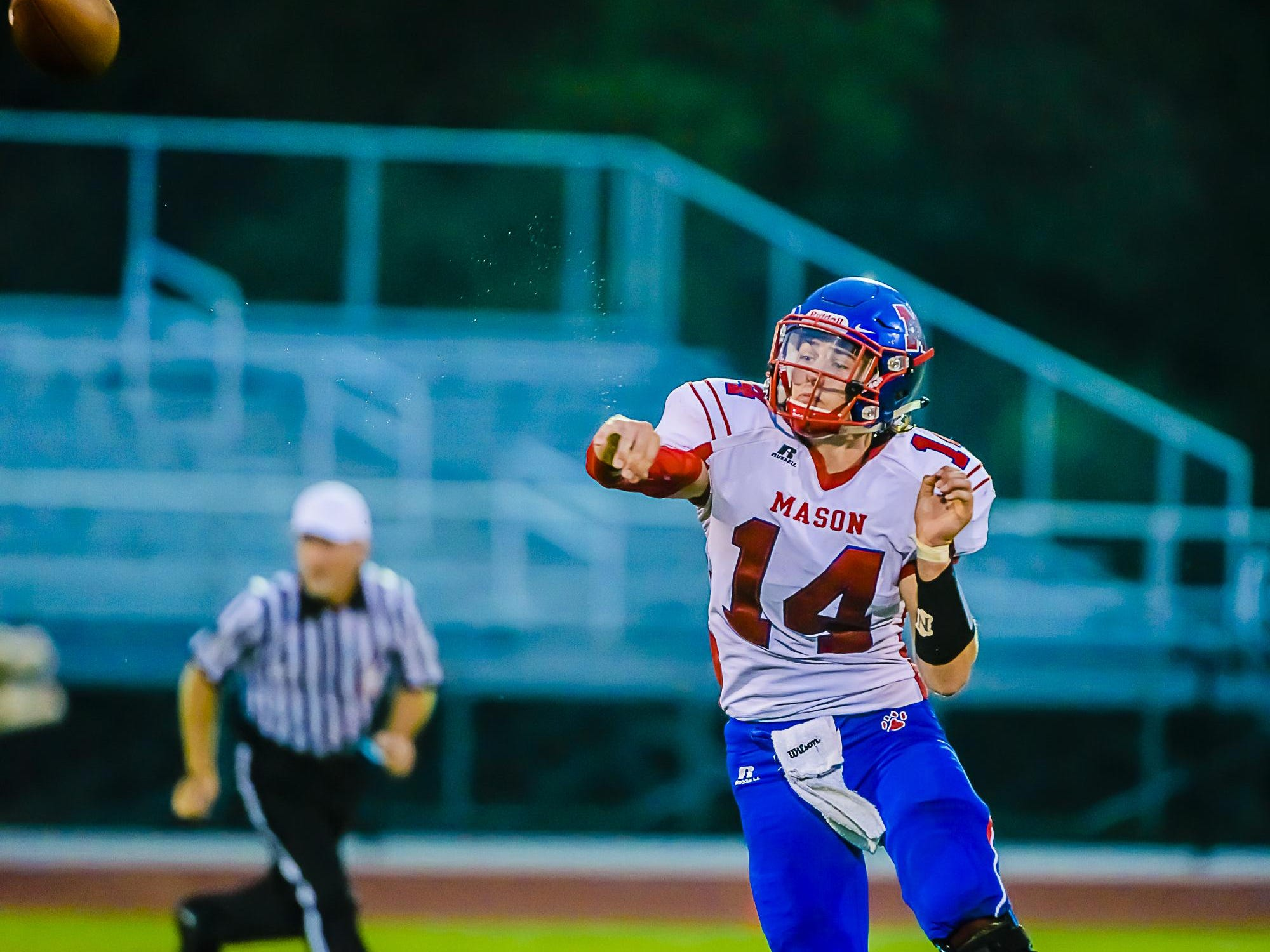 Mason's Jarrett VanHavel is one of the leading passers in the Lansing area.