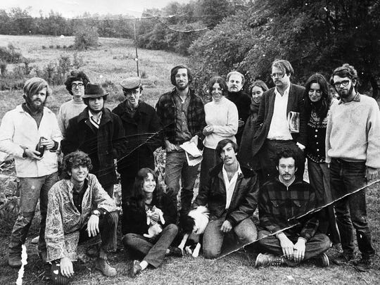 The founding members of southeastern Vermont's Packer Corners Commune are seen in 1968.