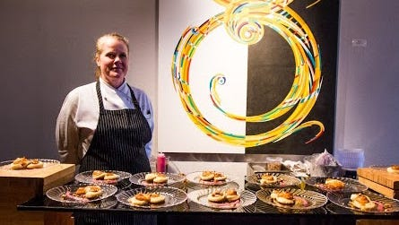 Pastry chef Robyn Mayo's creative desserts add to the mix of traditional fare with a spin at The Carillon at AT&T's Executive Education and Conference Center.