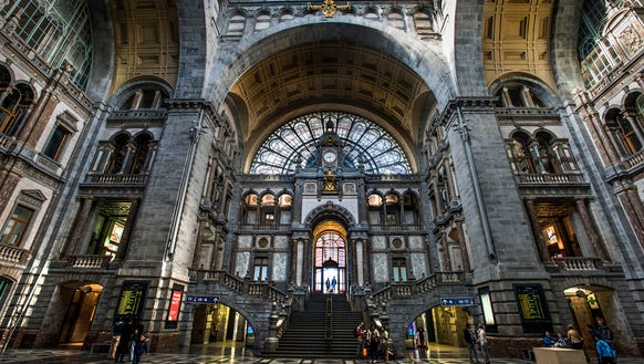 Antwerp's central station.