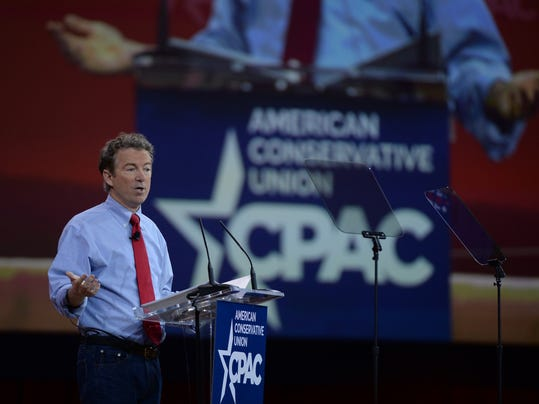 Sen. Rand Paul, R-Ky., speaks at the Conservative Political Action Conference on Feb. 27, 2015. (H. Darr Beiser, USA TODAY)