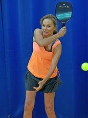 Ellen Haring began playing pickleball when Ohio Health