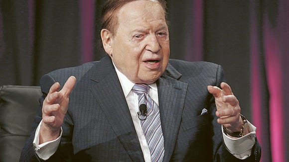 Las Vegas Sands Corp. CEO Sheldon Adelson is a foe of Pennsylvania, New Jersey, or any state offering online gaming.