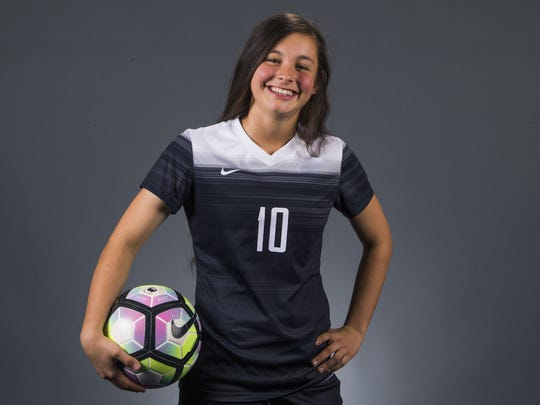 Chandler Hamilton junior forward Brianna Atterbury is a finalist for the azcentral.com Sports Awards Big Schools Girls Soccer Athlete of the Year award.
