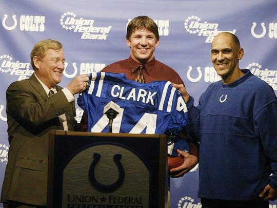 Indianapolis Colts president Bill Polian left and coach