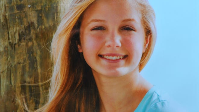 Photograph of Hannah Cline. Liz Mikitarian and Lyn Cline started Hannah's Heros after Lyn's teenage daughter Hannah took her own life in January. The group offers hope and support for youth suicide prevention and teen depression.