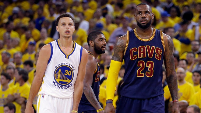 """Indiana All-Stars were asked who had """"the juice""""  among upcoming high school stars — Golden State Warriors guard Stephen Curry (30) or Cleveland Cavaliers forward LeBron James (23)?"""
