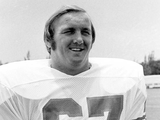 A July 18,1973 photo of Bob Kuechenberg of the Miami Dolphins.