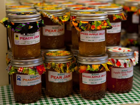 Backyard Jams and Jellies by Krista Scudlark of Milton are sold at the store.