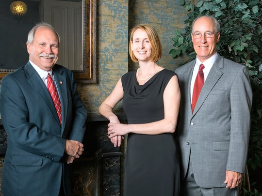 C.S. Davidson Inc. announced leadership changes recently. From left, are John A. Klinedinst, Kerryn E. Fulton and David M. Davidson Jr.