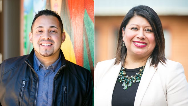 From left, State Representative Diego Hernandez from East Portland and State Representative Teresa Alonso Leon from Woodburn.