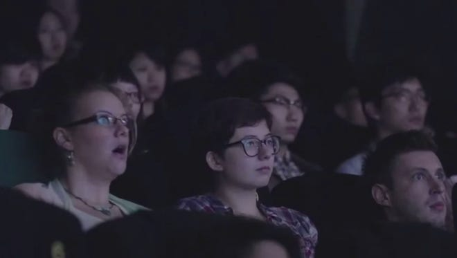 Movie-goers in Hong Kong stunned by what they see.