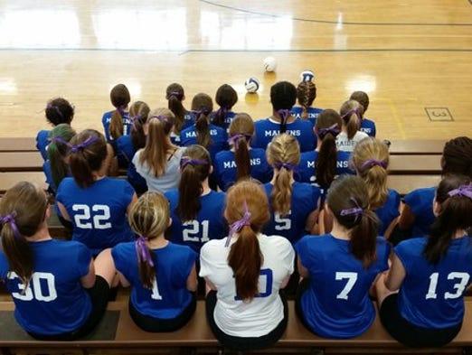 Waynesboro Area Senior High School's volleyball team