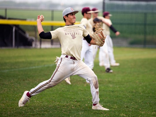 Tuloso-Midway baseball player Darren Mourer works out