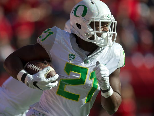 Oregon running back Royce Freeman.