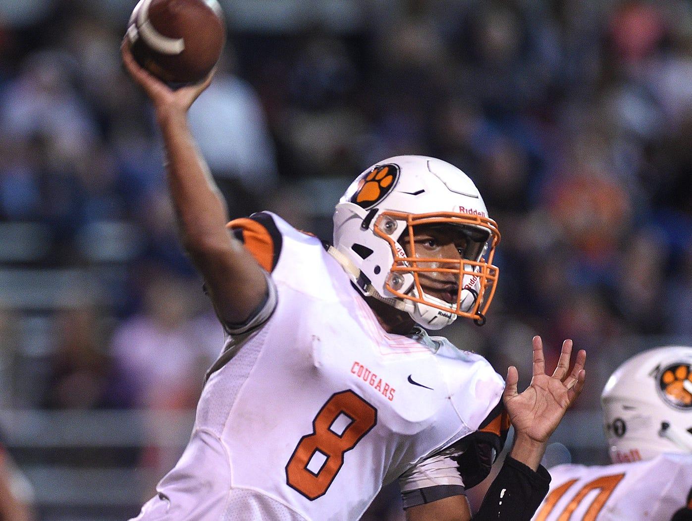 Middle Tennessee Christian quarterback Joseph Peck