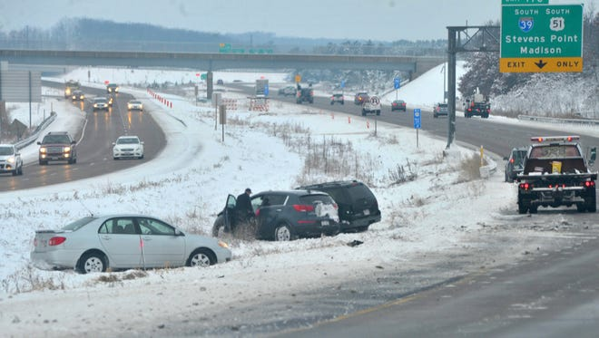 A three-car crash caused delays on Highway 29 Wednesday morning.