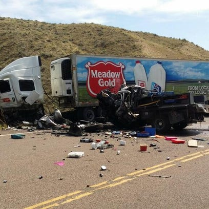 The site of a crash one mile north of Loma on U.S.