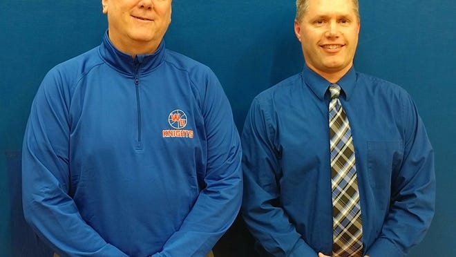West Holmes retired Superintendent Bill Sterling (left) with Aaron Kaufman, who was to assume the role this school year. Kaufman died Friday.