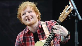 Two California songwriters are seeking $20 million from international pop star Ed Sheeran.