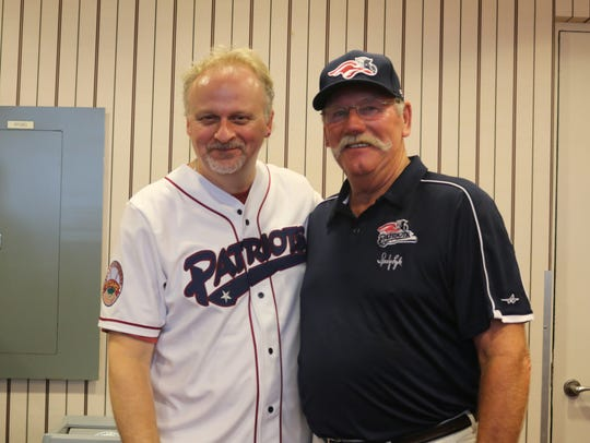 WCTC's Bert Baron is pictured with Somerset Patriots