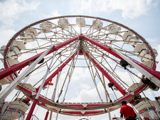 Rides are one of the attractions of the Waukesha County Fair, which runs through Sunday.