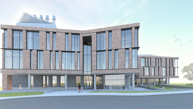 Rendering of FSU's new Interdisciplinary Research and Commercialization Building to be constructed on Levy Avenue.