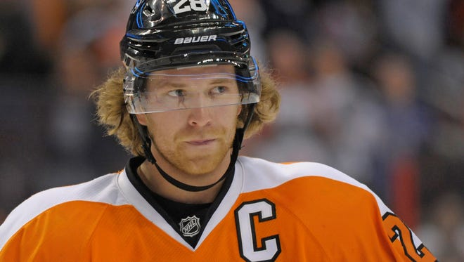 Philadelphia Flyers center Claude Giroux was passed over for a second time by Team Canada.