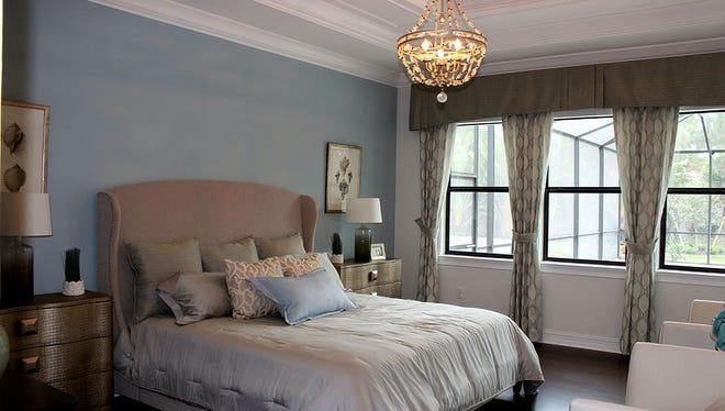 The master bedroom in D.R. Horton's new Danbury model.