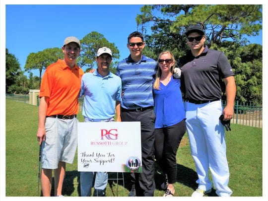 The Russotti group pictured at the Santa Lucia River Club at Ballantrae during Golf for Hope in 2017.