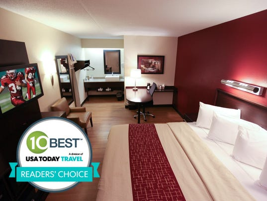 Welcome to Red Roof Inn Lafayette Indiana. Red Roof Inn Lafayette is a non-smoking hotel that offers a continental breakfast. All guest rooms include free Wi-Fi and high definition flat screen TVs.