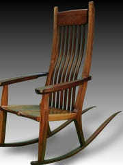 Clint Parker will be at the Cottage Fine Art Show, part of the Cottage & Lakefront Living Show Thursday through Feb. 28. Pictured is his walnut rocking chair.