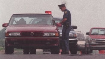 A routine traffic stop along I-94 in Macomb County.
