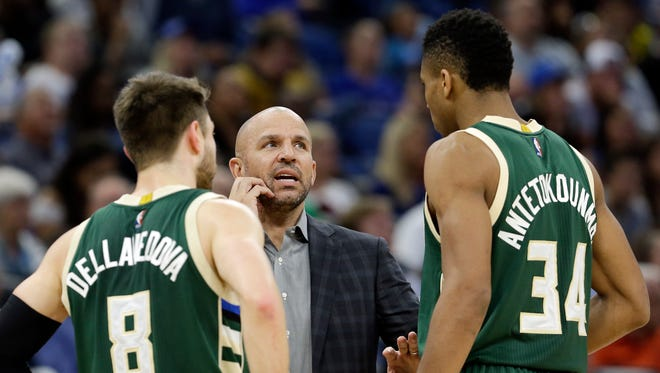 Coach Jason Kidd will lead a Bucks team that currently is set to bring back 13 members of last year's squad — the most in team history.