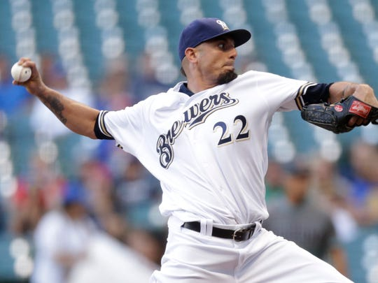 Brewers starter Matt Garza is in the final year of his four-year, $50 million contract. The right-hander could be a trade candidate if he pitches well early in the season.