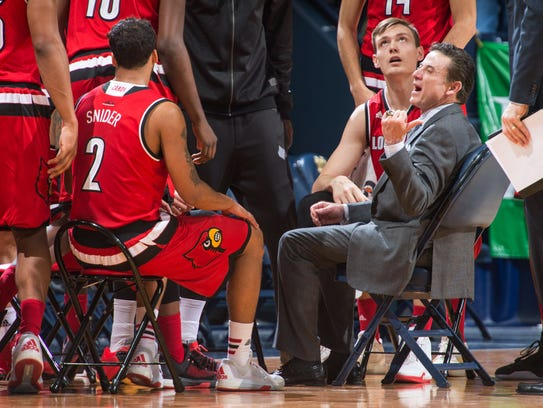 Louisville coach Rick Pitino has denied any wrongdoing