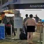A naked man was found walking around Nashville International Airport Sunday, Feb. 21, 2016