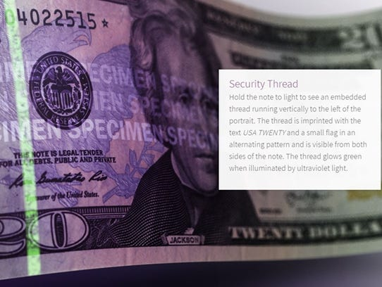 U.S. currency is made with portrait watermarks and
