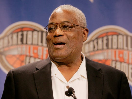 Harry Flournoy, team captain representing the 1966 NCAA champions Texas Western at the Basketball Hall of Fame in Springfield, Mass., Sept. 7, 2007.