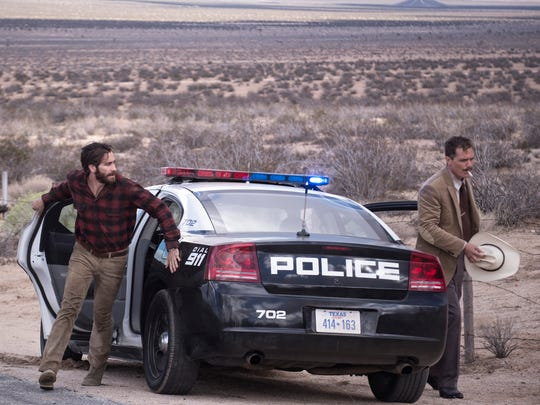 Jake Gyllenhaal and Michael Shannon in a scene from