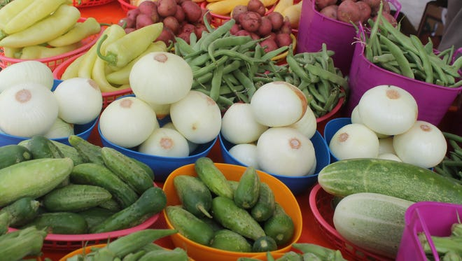 Produce like this is sold daily at the Milan Farmers Market.