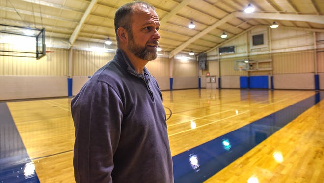Guy Shaul, superintendent of recreation for the Borough of Chambersburg, stands inside the renovated Gym 2 at Eugene C. Clarke Jr. Community Center on Monday.