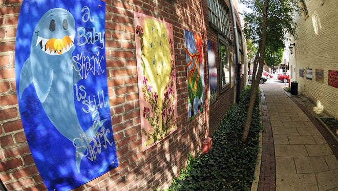 . This file photo shows murals submitted in Downtown Chambersburg Inc's 2015 contest.